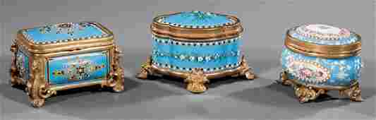 MetalMounted Porcelain Enamel Dresser Boxes