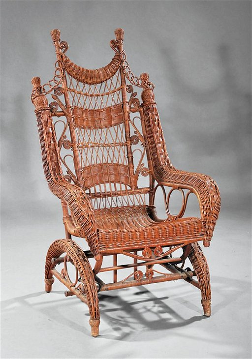 Astonishing Victorian Wicker Platform Rocking Chair Gmtry Best Dining Table And Chair Ideas Images Gmtryco