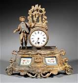 Louis XVIStyle Gilt Metal Figural Mantel Clock