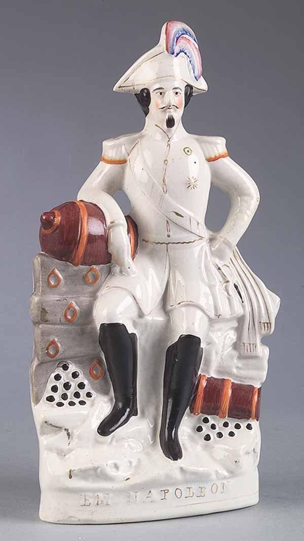 0008: Staffordshire Polychromed Figure of Napoleon