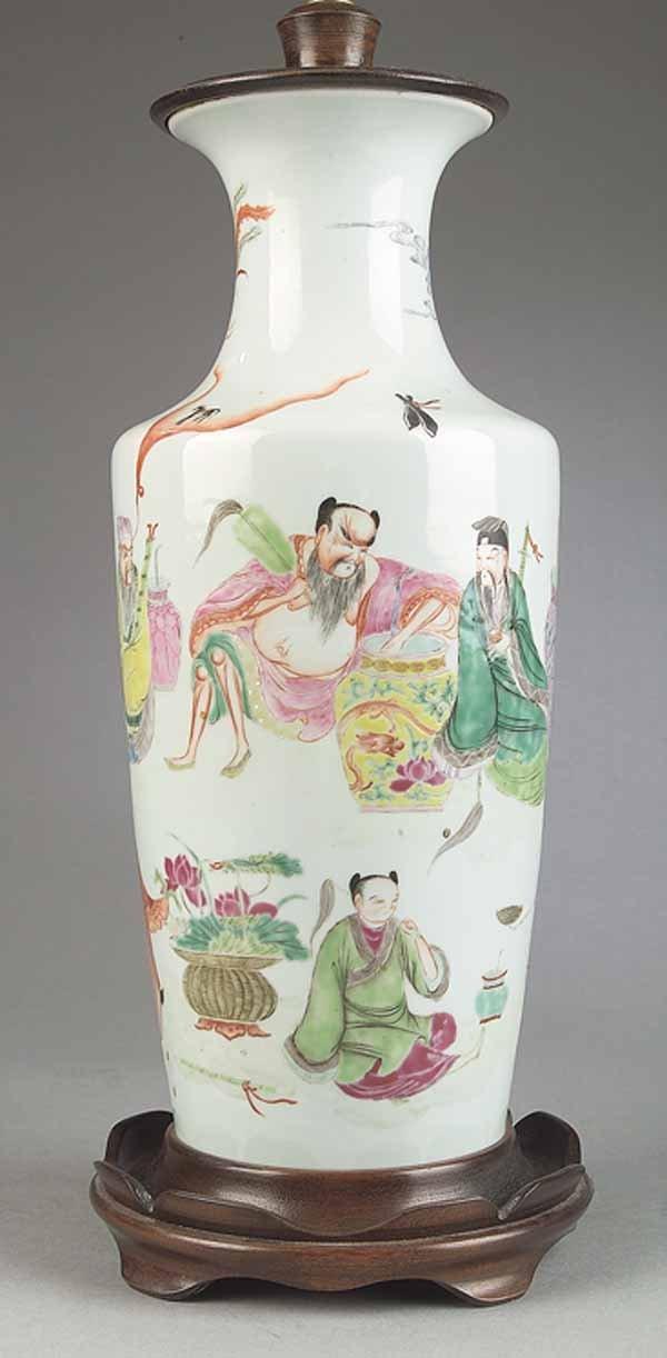 0010: Antique Chinese Famille Verte Porcelain Vase