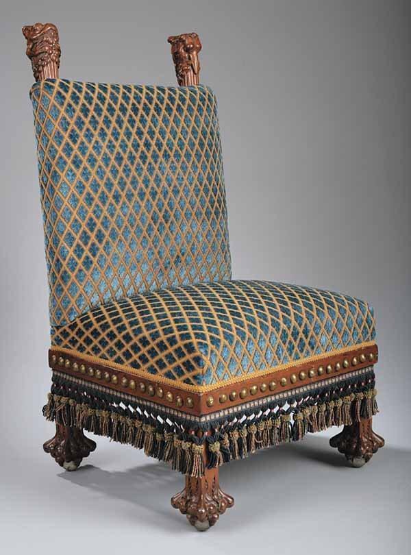 0153: Important American Art Furniture Carved Mahoga