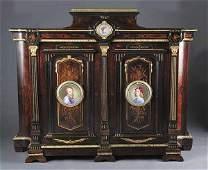 0462: Fine American Renaissance Inlaid and Ebonized R