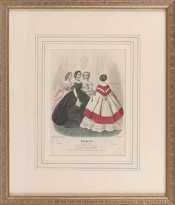 0741: Set of Six Hand-Colored Engravings of Women's F