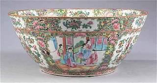 1150 Large Chinese Rose Medallion Punch Bowl