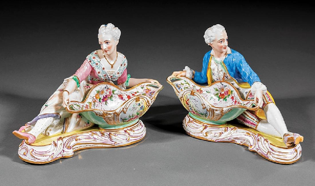 Meissen Porcelain Figural Sweetmeat Dishes