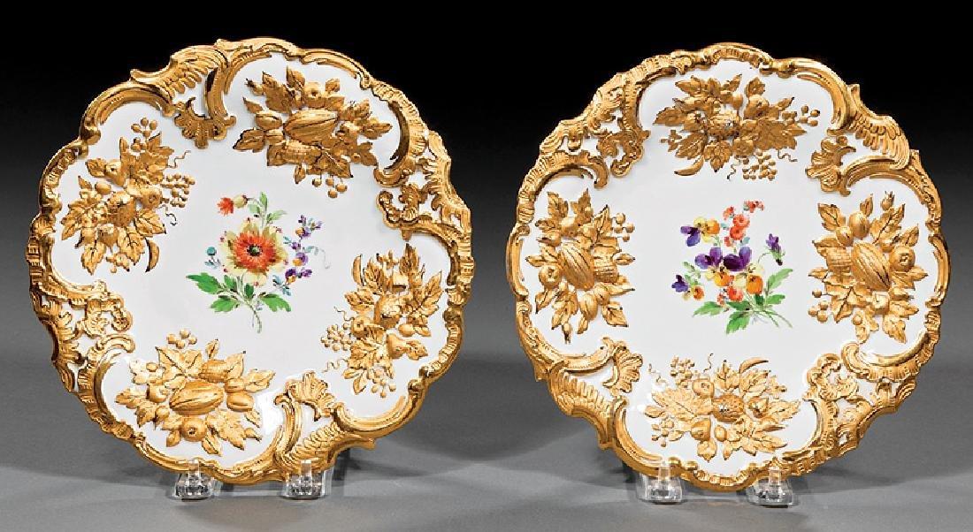Meissen Molded Porcelain Cabinet Plates