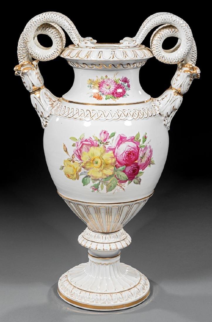 Carl Teichert Meissen Porcelain Vase