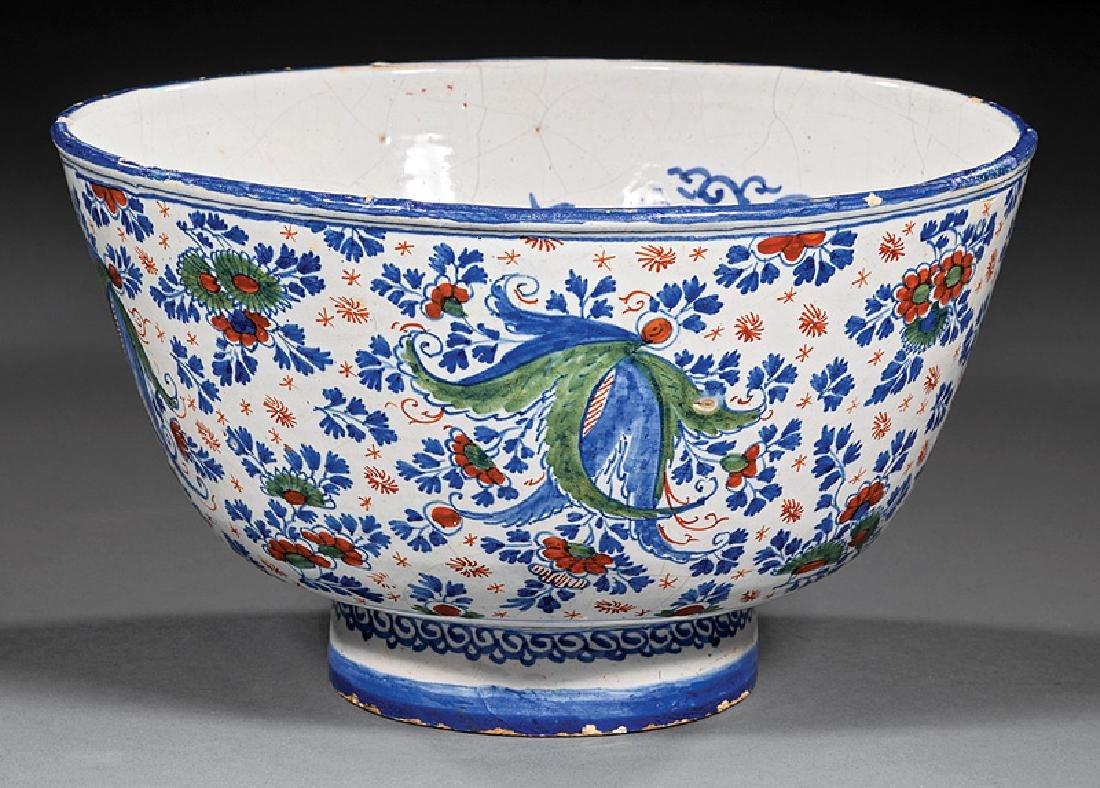 English Delftware Polychrome Bowl