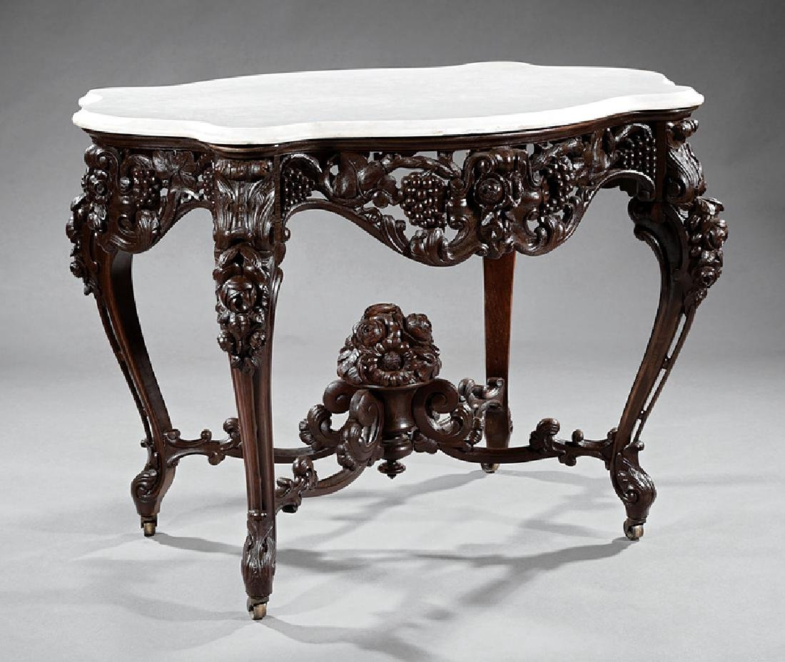 Rosewood Center Table, attr. Belter
