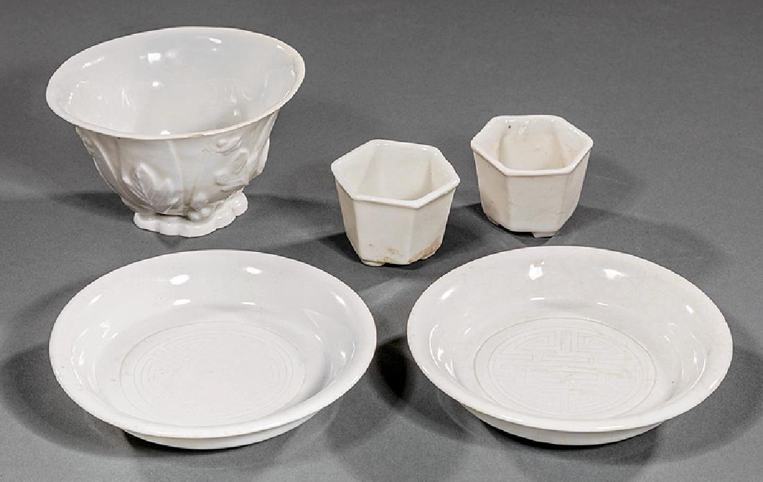 Group of Chinese White Glazed Porcelain