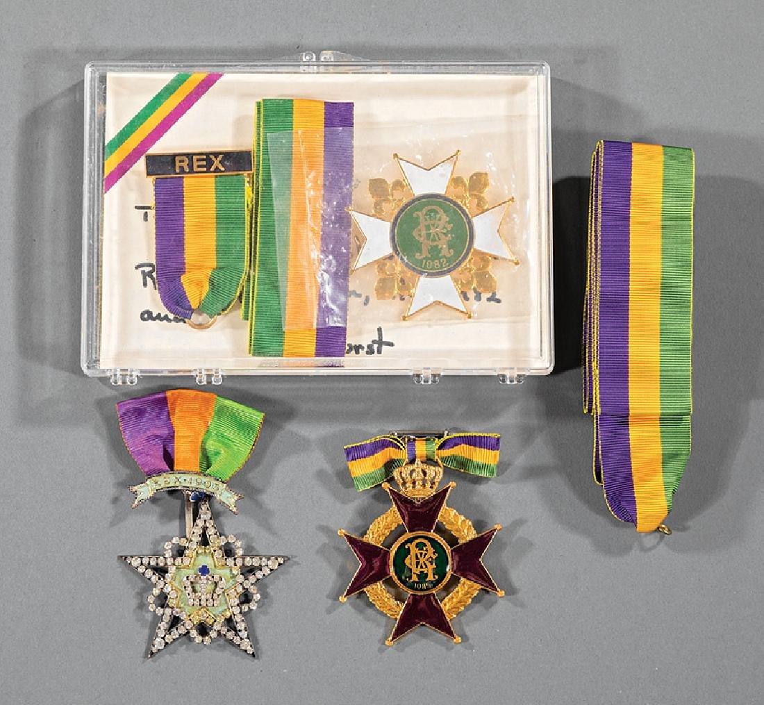 Rex, 3 ducal badges, 1905,1982, 1985