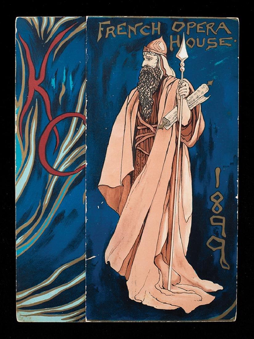 Mistick Krewe of Comus, ball invitation, 1899