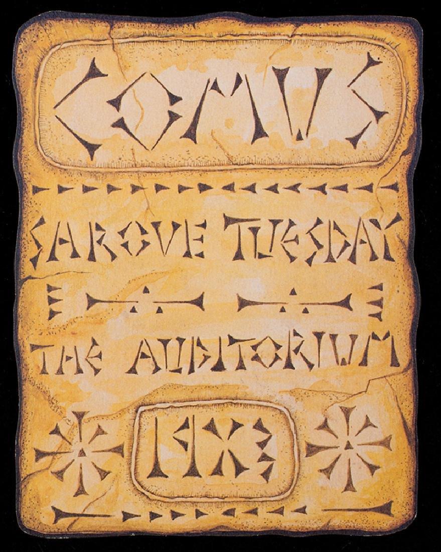 Mistick Krewe of Comus, ball invitation, 1901