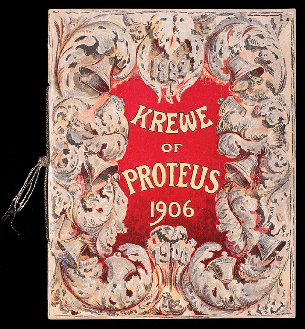 Krewe of Proteus, ball program, 1906