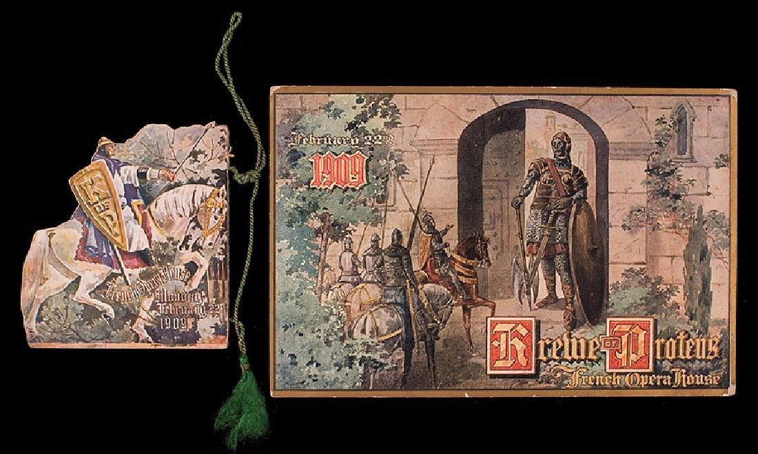 Krewe of Proteus, ball invitation, 1909