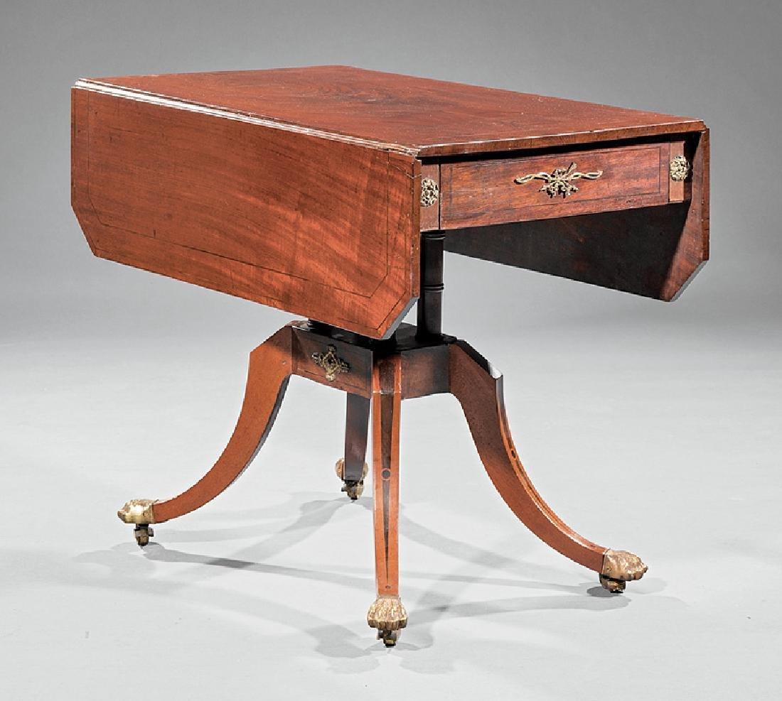 Inlaid, Mahogany, Bronze-Mounted Pembroke Table