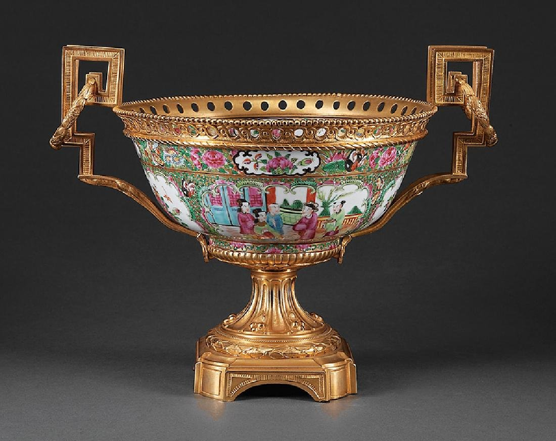 Gilt Bronze-Mounted Chinese Export Porcelain Bowl