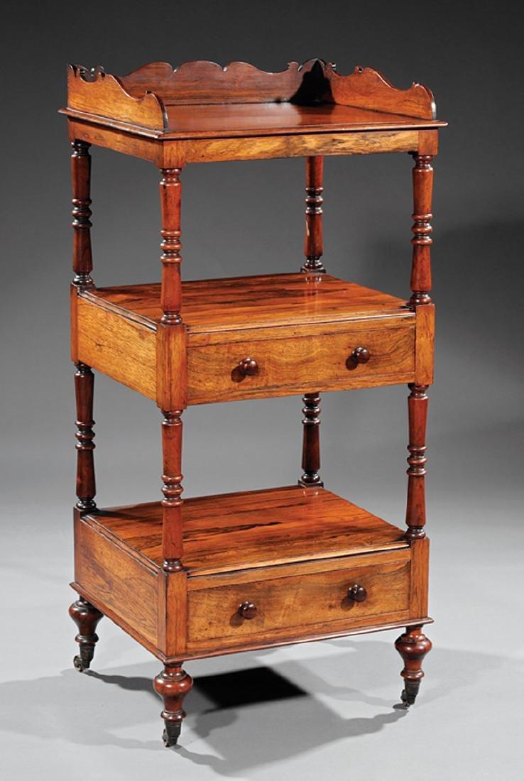 Regency Carved Rosewood Etagere