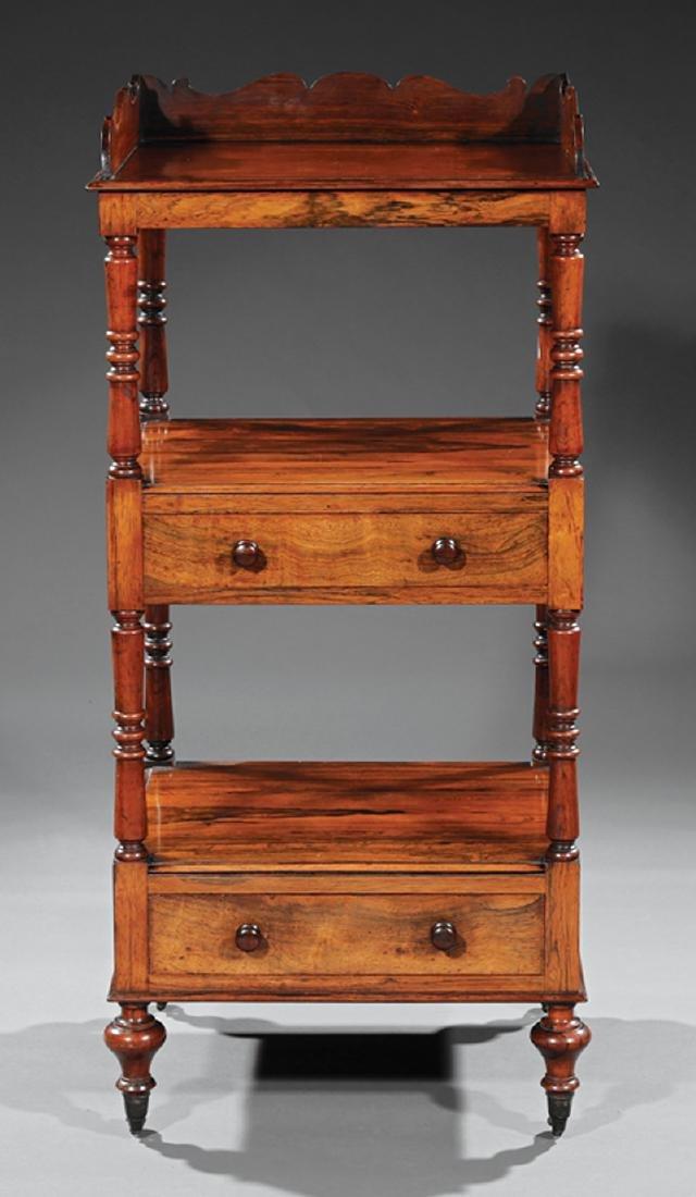 Regency Carved Rosewood Etagere - 2