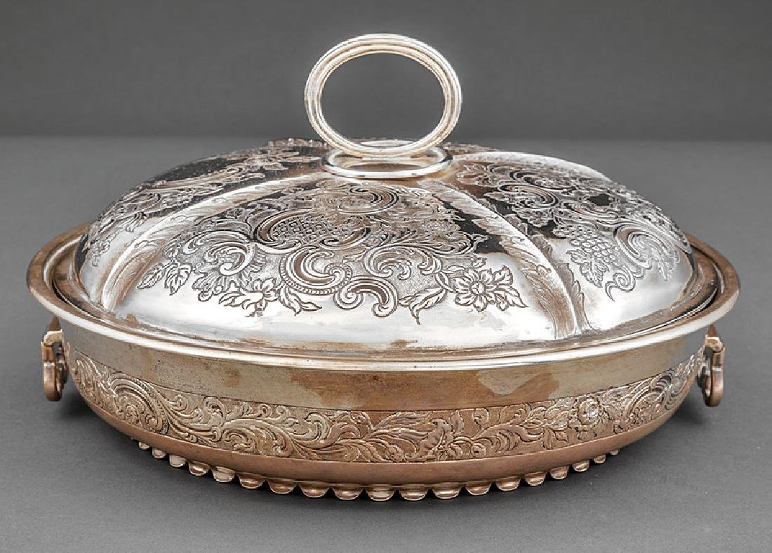 George III Sterling Silver Covered Entree Dish