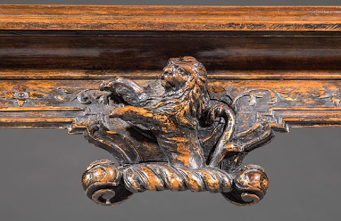 Carved Walnut Console Table - 3