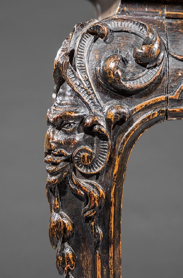 Carved Walnut Console Table - 4