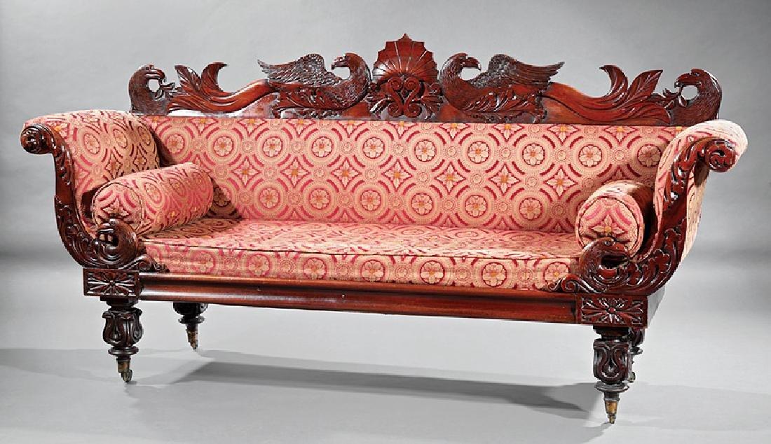 William IV Carved Mahogany Sofa