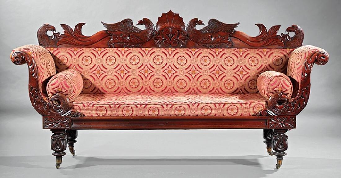 William IV Carved Mahogany Sofa - 2