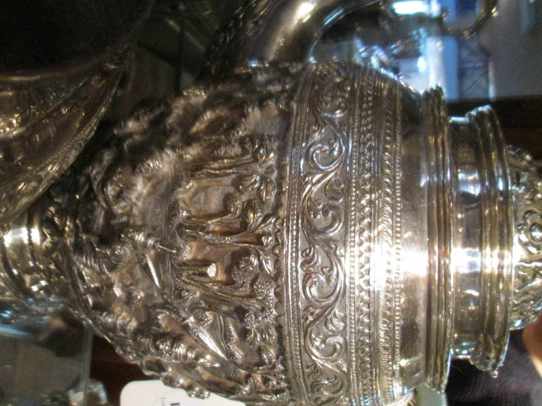 Burmese Silver Repousse Coffee and Tea Service - 3