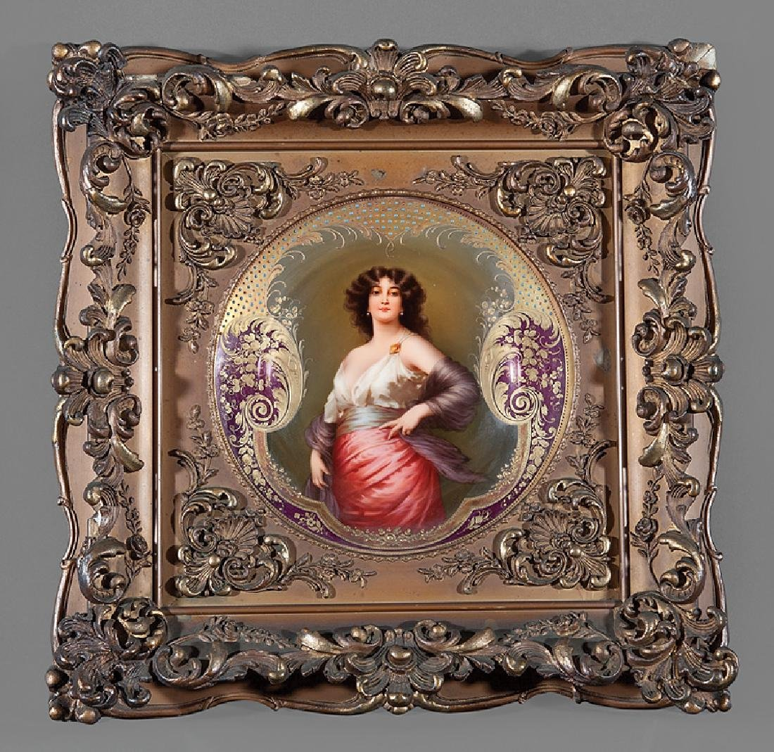 """Royal Vienna"" Porcelain Cabinet Plate"