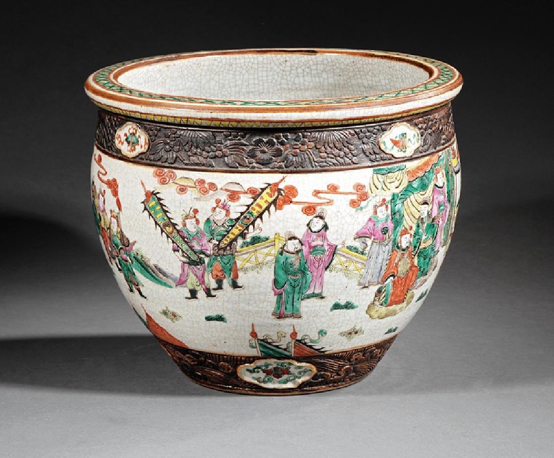 Chinese Famille Rose Porcelain Fishbowl