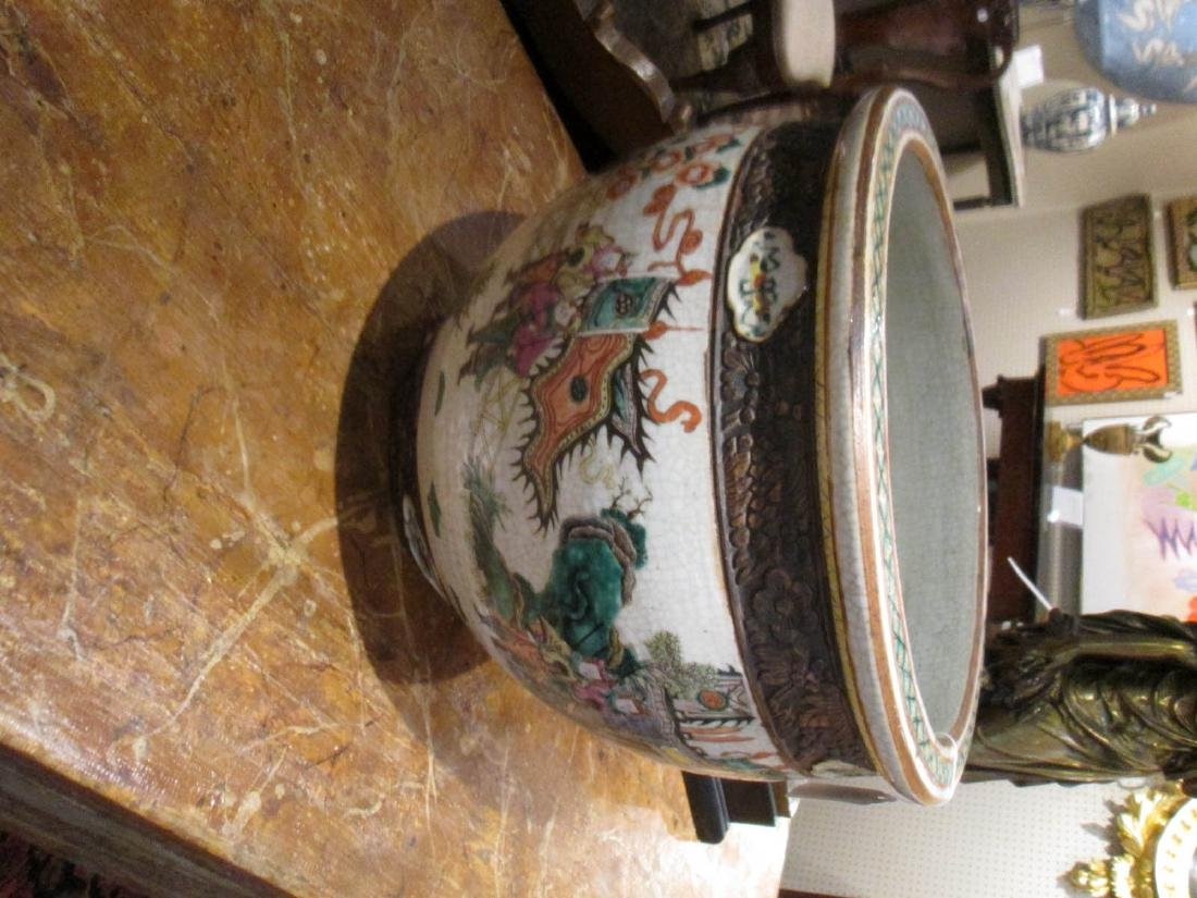 Chinese Famille Rose Porcelain Fishbowl - 2
