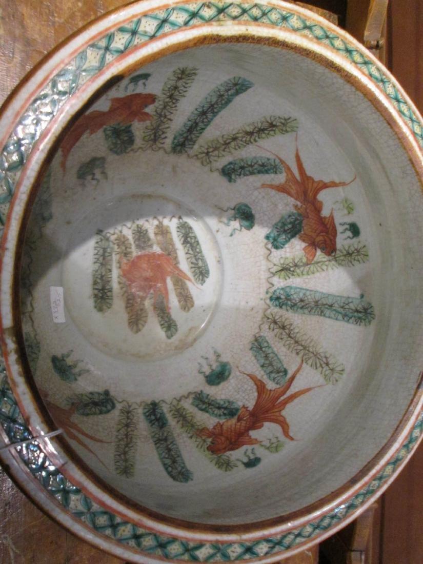 Chinese Famille Rose Porcelain Fishbowl - 4