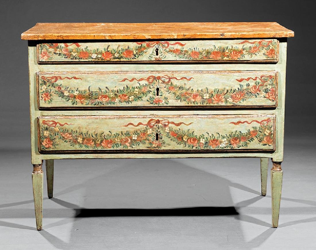 Italian Neoclassical Painted Commode - 2