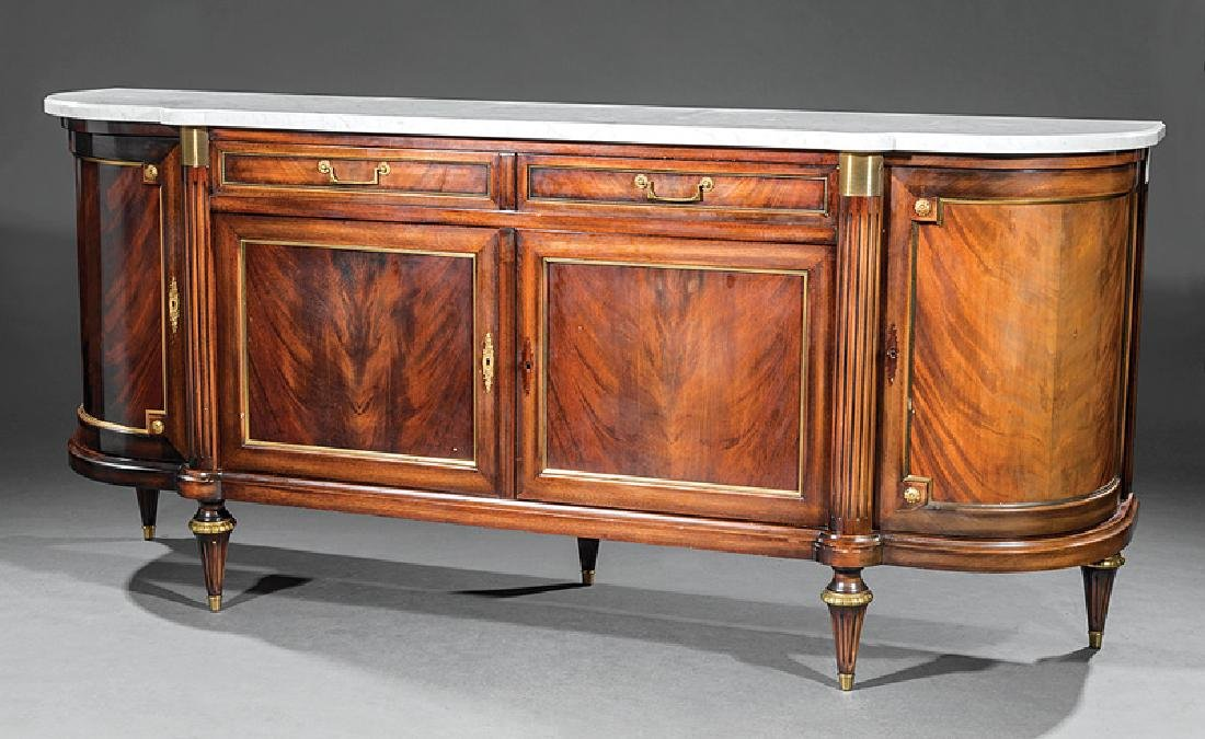 Gilt Bronze-Mounted Carved Mahogany Sideboard