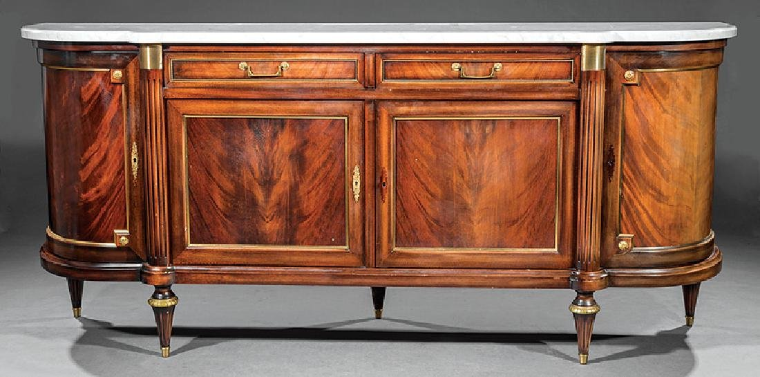 Gilt Bronze-Mounted Carved Mahogany Sideboard - 2