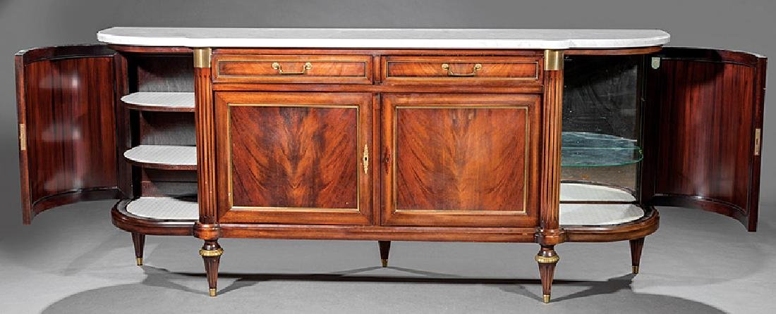 Gilt Bronze-Mounted Carved Mahogany Sideboard - 3