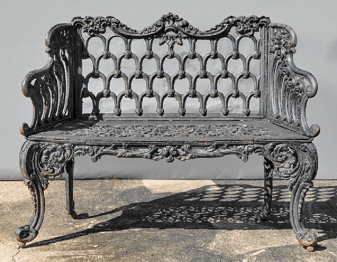 American Cast Iron Gothic Garden Bench