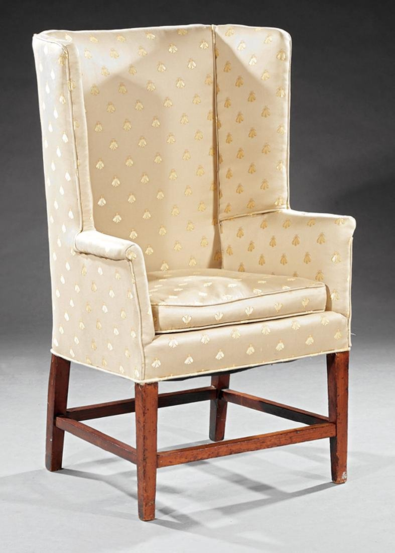 American Federal Walnut Wingchair