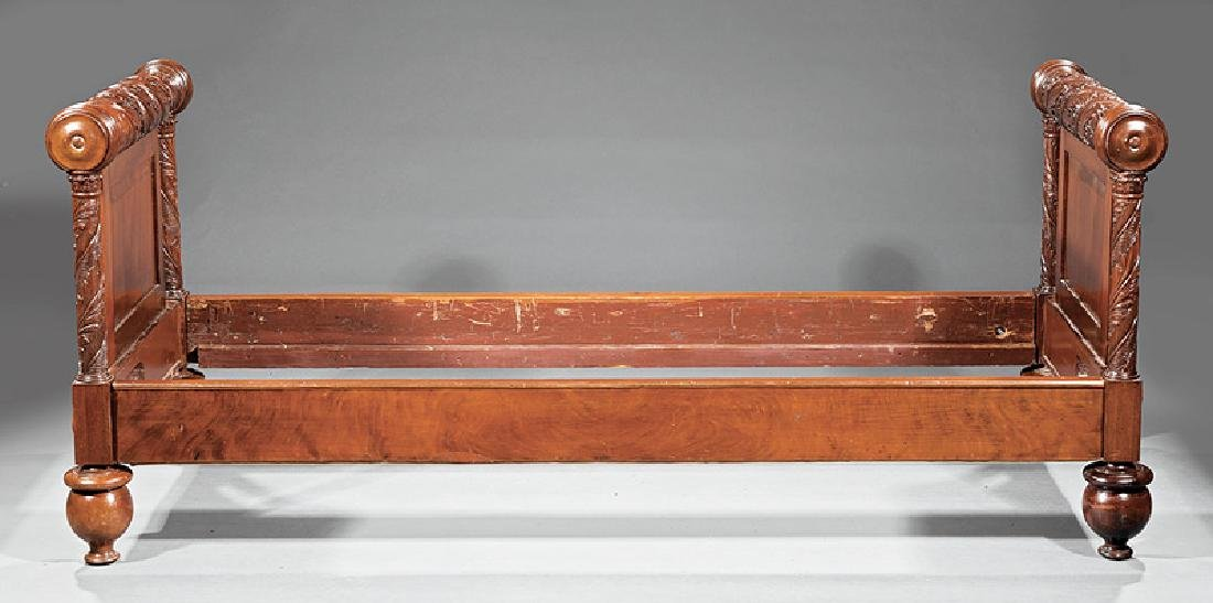 American Classical Carved Mahogany Daybed