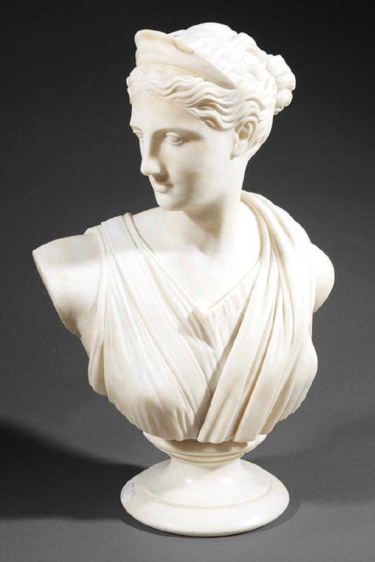 Italian Marble Bust of Diana