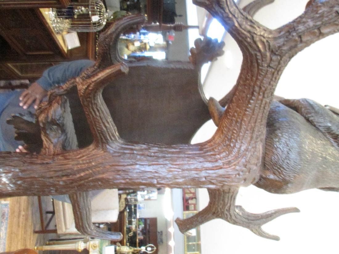 Black Forest Carved and Mirrored Hallstand - 6
