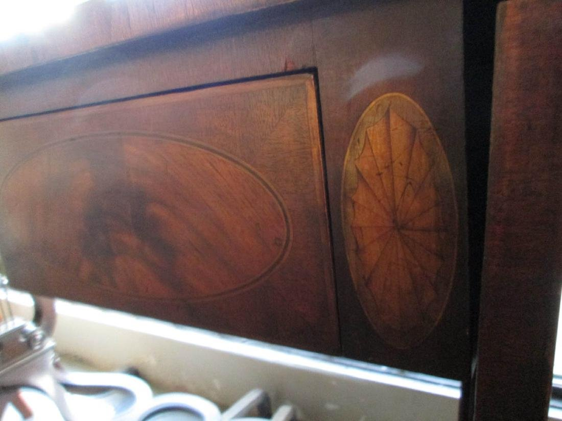 Classical Carved and Inlaid Mahogany Sofa Table - 4
