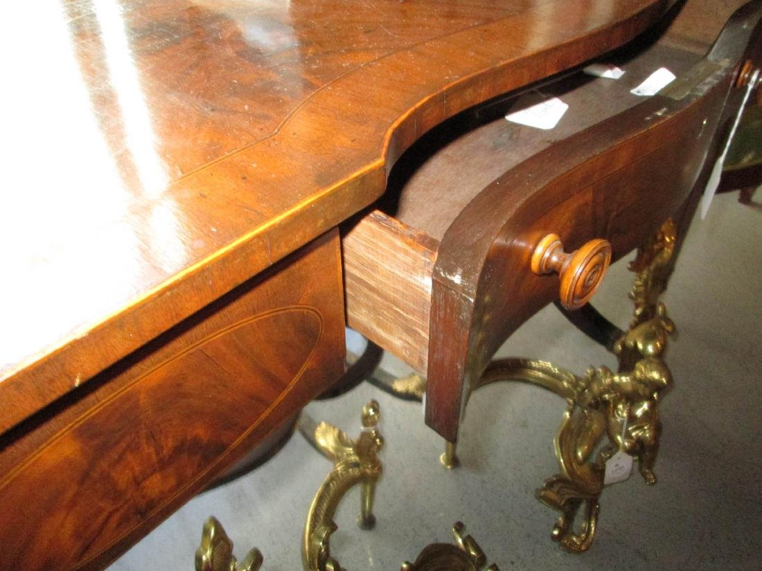 Classical Carved and Inlaid Mahogany Sofa Table - 8