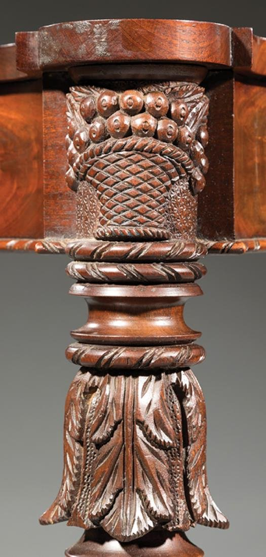 American Federal Carved Mahogany Games Table - 5