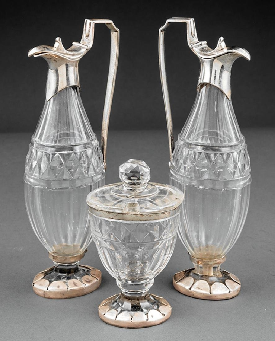 Paul Storr Sterling Silver-Mounted Crystal Cruets