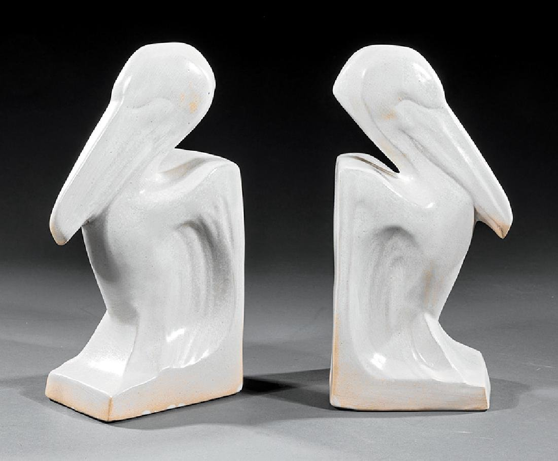 Pair Shearwater Pottery Pelican Bookends