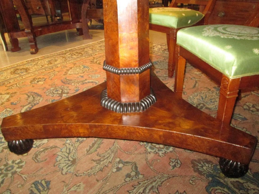 Late Regency Burled Walnut Breakfast Table - 3