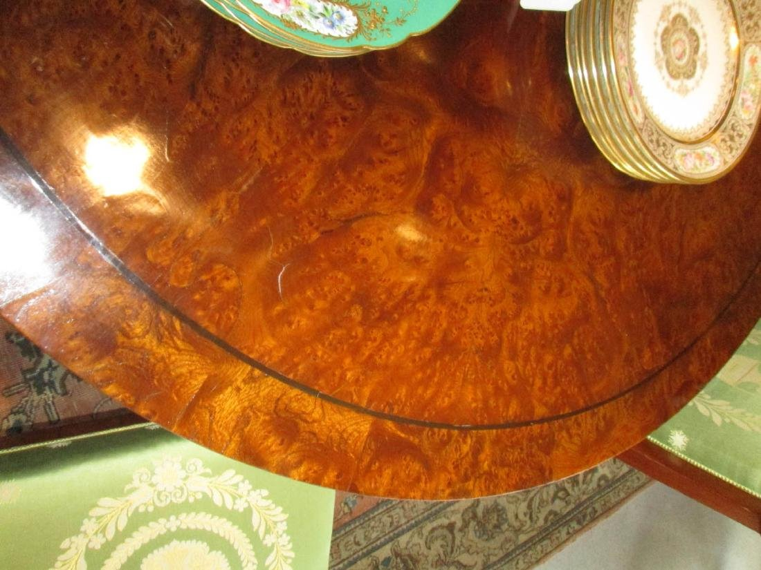Late Regency Burled Walnut Breakfast Table - 6